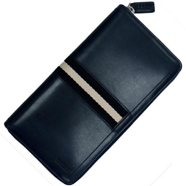 バリー ラウンドジップ式長財布(ファスナー小銭入れ付)メンズ財布 BALLY TALEN 517 NEW BLUE ニューブルー 6206817 ギフト プレゼント 贈答品 記念品 就職祝い 誕生日