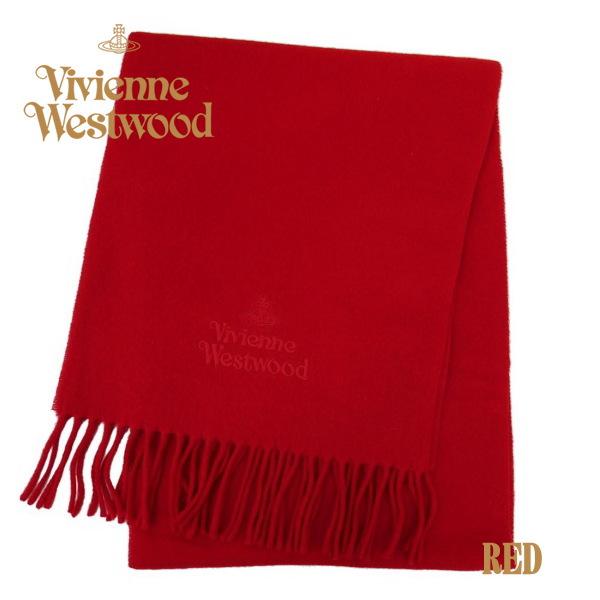 ヴィヴィアン・ウエストウッド マフラー スカーフ レッド系 11151-H401 ギフト プレゼント クリスマス