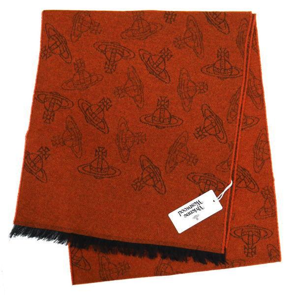 ヴィヴィアン・ウエストウッド マフラー Vivienne Westwood コレクション ウール100% TERRACOTTA系 10066-GE-F202