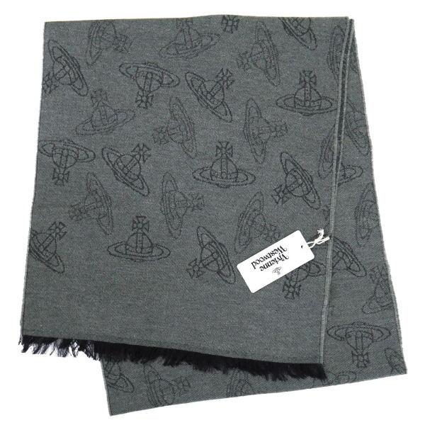 ヴィヴィアン・ウエストウッド マフラー Vivienne Westwood コレクション ウール100% GREEN系 10066-GE-M201