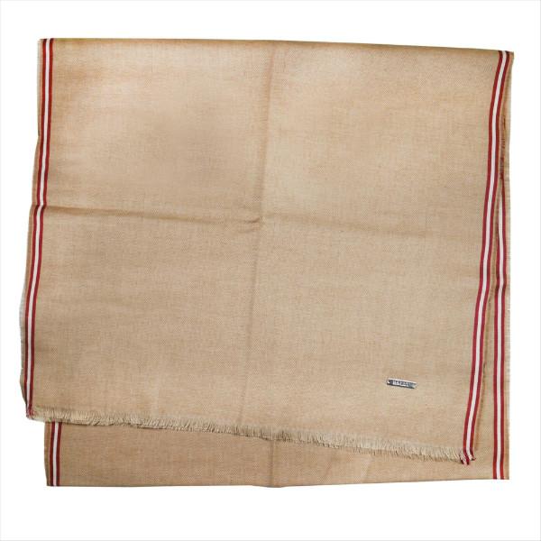 バリー マフラー スカーフ BALLY キャメル系 コットン100% イタリー製 ギフト プレゼント 贈答品 クリスマス