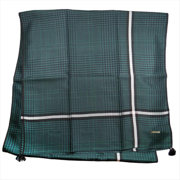 バリー マフラー スカーフ ショール BALLY グリーン系 シルク カンボジア製 ギフト プレゼント 贈答品 クリスマス