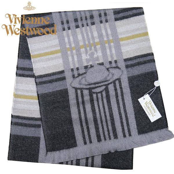 ヴィヴィアン・ウエストウッド マフラー Vivienne Westwood ウール100% ブラック系 M9060-C60