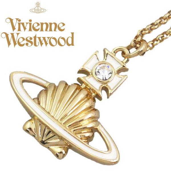 ヴィヴィアン ネックレス アクセサリー メデアバスレリーフ ホワイトxゴールド Vivienne Westwood 752119B-1 ギフト プレゼント 誕生日