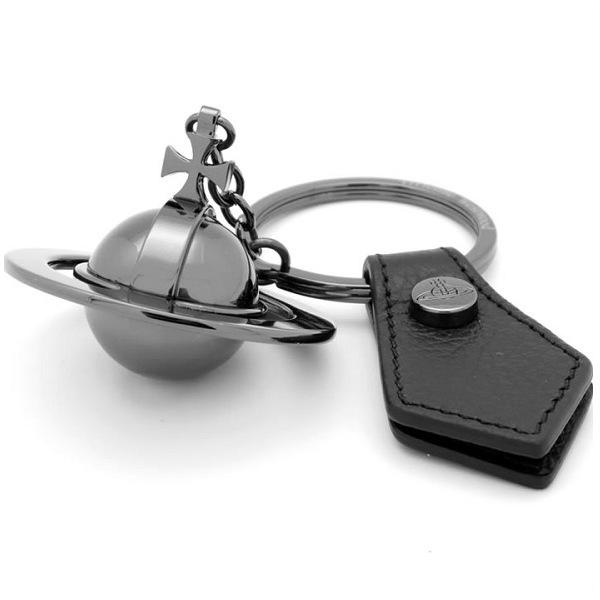 ヴィヴィアン・ウエストウッド キーリング キーホルダー vienne Westwood ラウンドオーヴ 82030011-black ブラックxブラック ギフトプレゼント【送料無料】