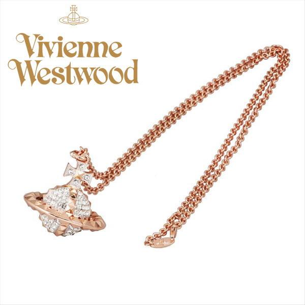 ヴィヴィアン ネックレス ピンクゴールドオーヴ メイフェア3D ラージ ORB Vivienne Westwood ギフト プレゼント 誕生日