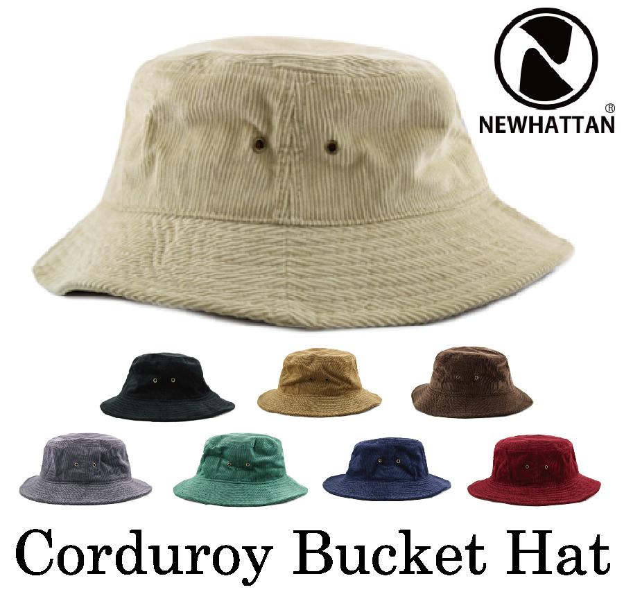 送料無料 セール ニューハッタン コーデュロイ バケットハット 在庫一掃 NEWHATTAN Corduroy Bucket HatCLASSIC SAFARI バケハ レディース サファリハット BUCKET 春の新作続々 帽子 メンズ HAT