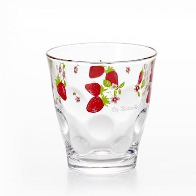 アウトレット OUTLET 包装不可 18%OFF メーカー直営店 ストロベリー タンブラーS 3個入 いちご柄 イチゴ アデリア 直送商品 苺 グラス ガラス食器 可愛い かわいい コップ 石塚硝子