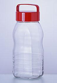 ペットボトル型貯蔵びん2L ノッポさん 12個入【送料無料/ペットボトル型果実酒びん/保存容器/ガラス食器/石塚硝子/アデリア】