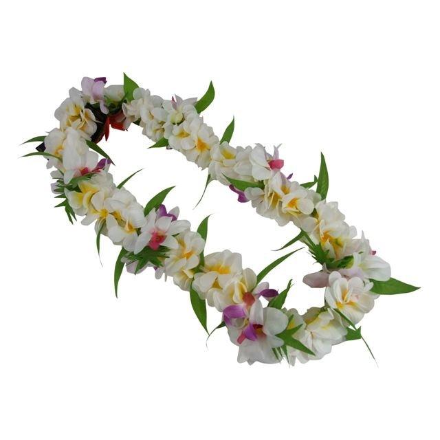 プルメリア ジャスミン 信託 オーキッドが一緒になったかわいいレイ 品番FL155 公式ショップ プルメリアジャスミンオーキッドレイ フラダンス