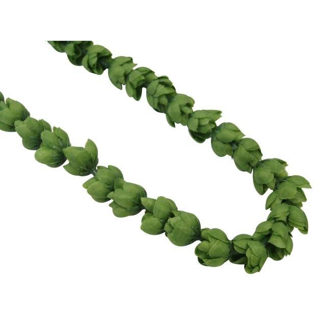 可愛いグリーンシングルローズロングレイ 実物 フラダンス 激安セール シングルローズレイ グリーン FL200