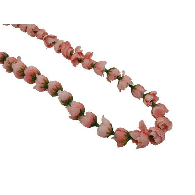 とっても可愛い 大幅にプライスダウン シングルローズレイ ライトピンク 驚きの値段 フラダンス 品番FL095B 小粒
