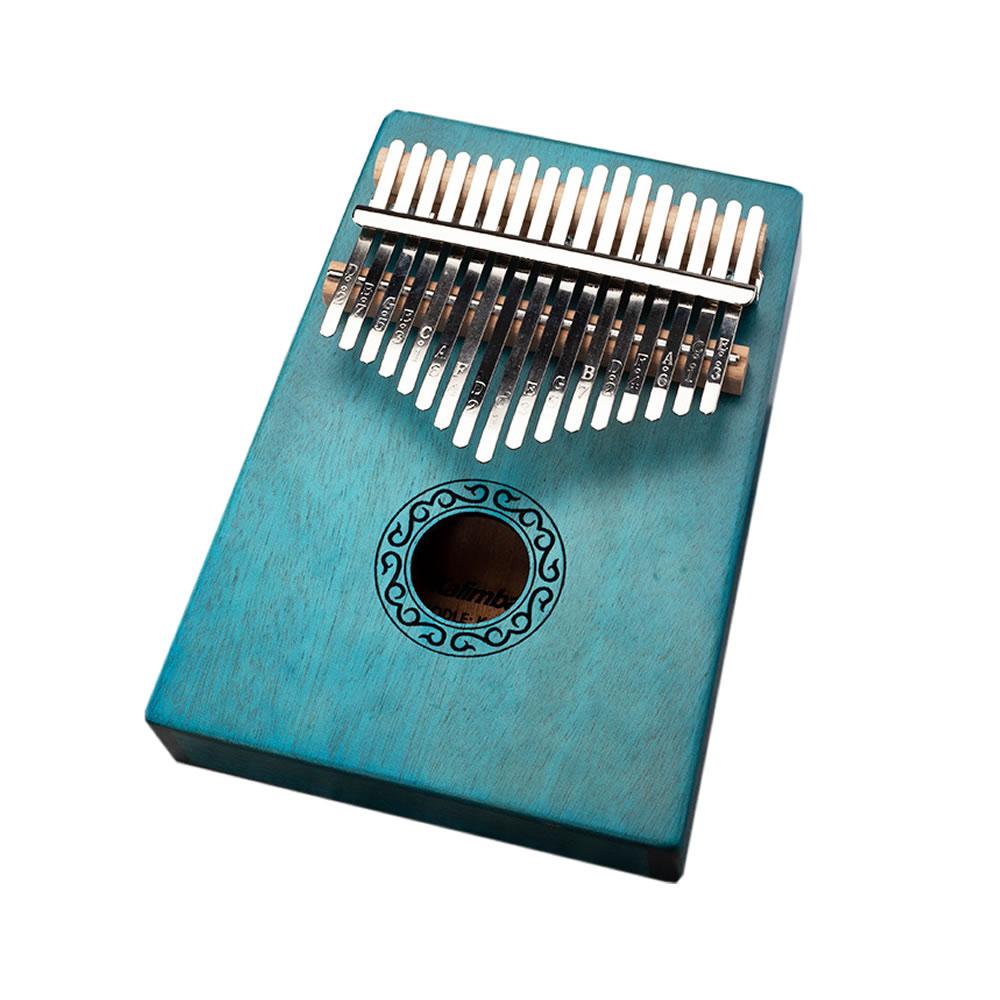 送料無料 美しい音色が心地よい 親指ピアノ17音 グリーン お得 カリンバ セール価格 kalimba 初心者 楽器 SINKARIN-GR サムピアノ マホガニー製