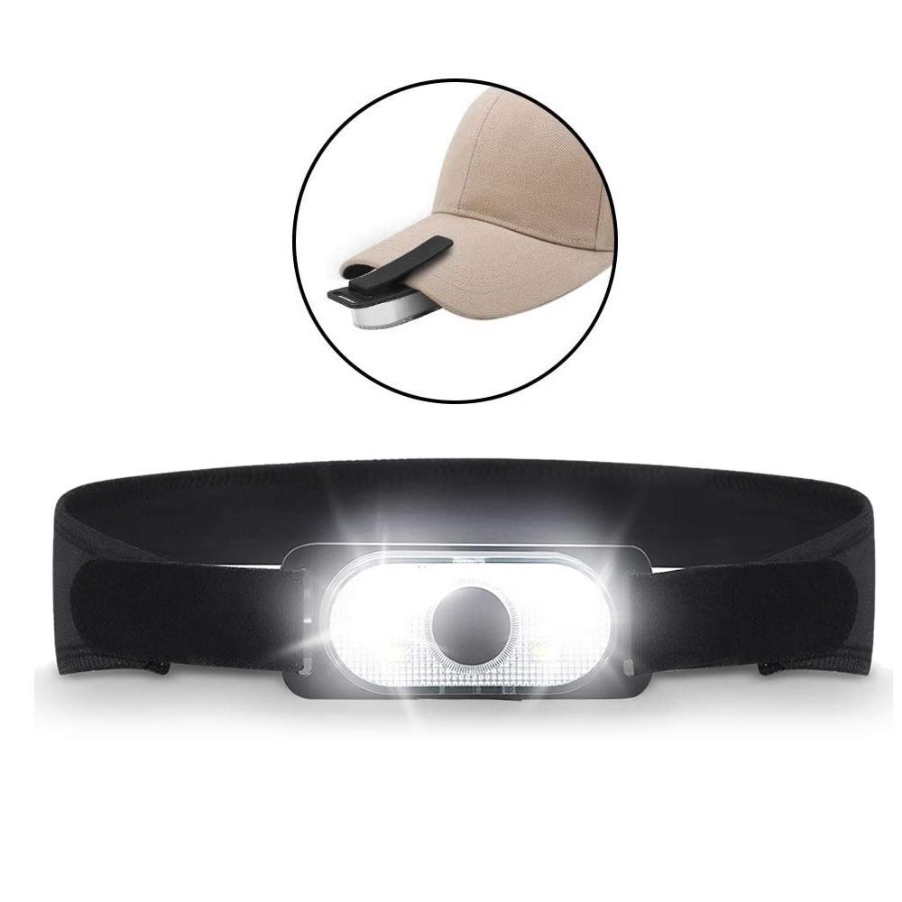 送料無料 クリップライトにもなるので持ち運びも用途も様々 LEDヘッドライト キャップライト 2WAY 帽子ライトクリップ ヘルメット ライト USB KURIHEAD 簡単 グッズ DIY キャンプ 充電式 持ち運び アウトドア お気に入り ギフト 4軽量