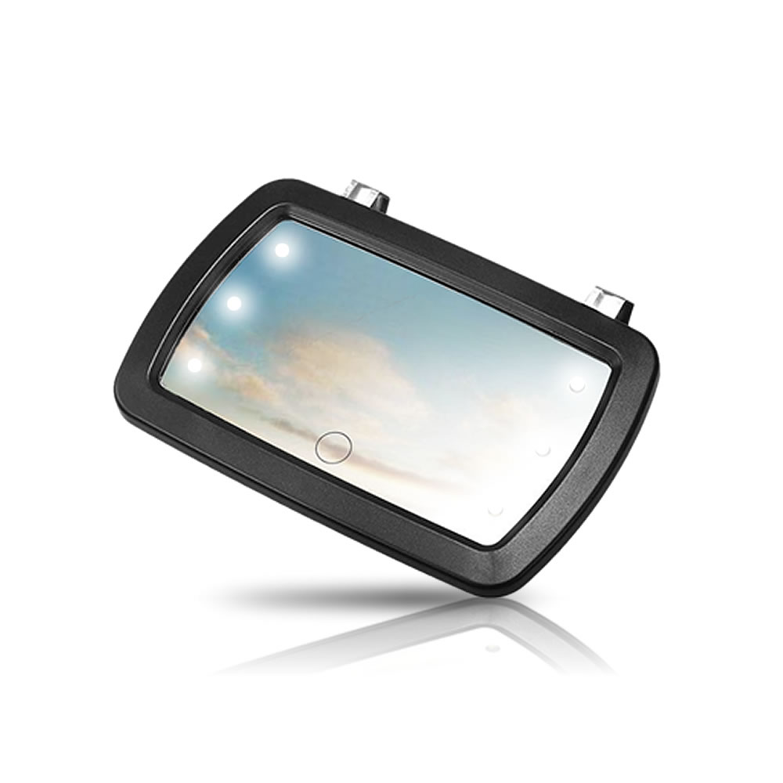 送料無料 車内でも明るく化粧がしやすい 超特価SALE開催 化粧鏡 車用ミラー サンバイザーミラー 化粧 メイクアップ MODEMIRAN LEDライト付き 6つ 本日限定 自動車用品