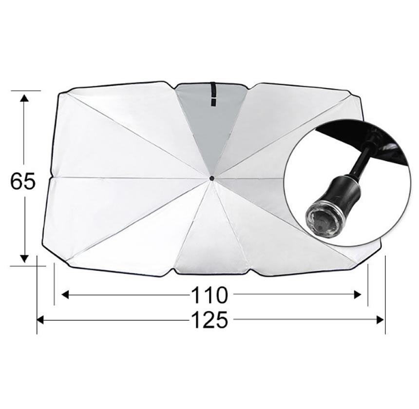送料無料 折りたたみ傘式 車サンシェード フロントガラス UVカットプライバシー保護 簡単な取り付け 激安通販 断熱 ガラスハンマー付きCARSANN 予約販売品