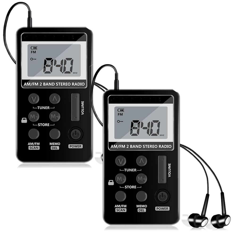 送料無料 手のひらサイズでどこでもラジオ 2個セット ポケット ラジオ ワイドfmラジオ FM AM 数量限定 対応 高感度受信 POKERAJI 液晶 小型 USB ディスカウント 持ち運び 軽量 ポータブルラジオ 充電式 携帯便利 ポケットラジオ