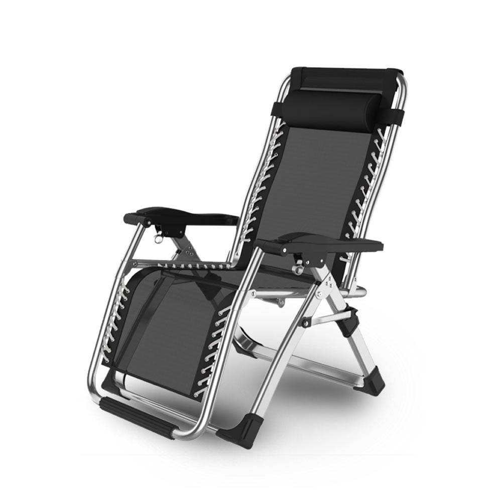 新作続 送料無料 リクライニングチェア シルバー 枕一体型 折り畳み リラックス リクライニング 直輸入品激安 椅子 チェア 折りたたみ RICLINA-SV