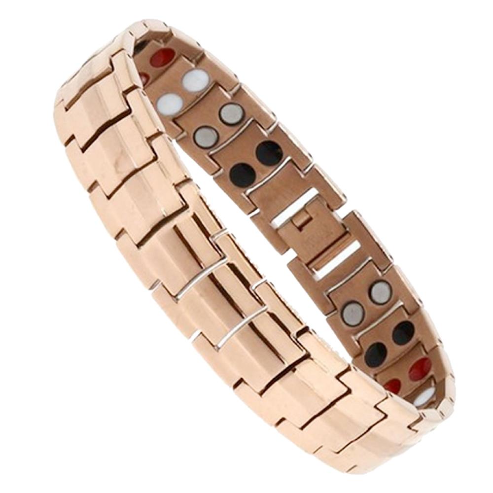 2020春夏新作 目にとっても優しい光です 送料無料 ゲルマニウムブレスレット ゴールド 磁気ブレスレット メンズ アクセサリー 磁気 ステンレス製 レデイース OSYABURE-GD 腕輪 定番