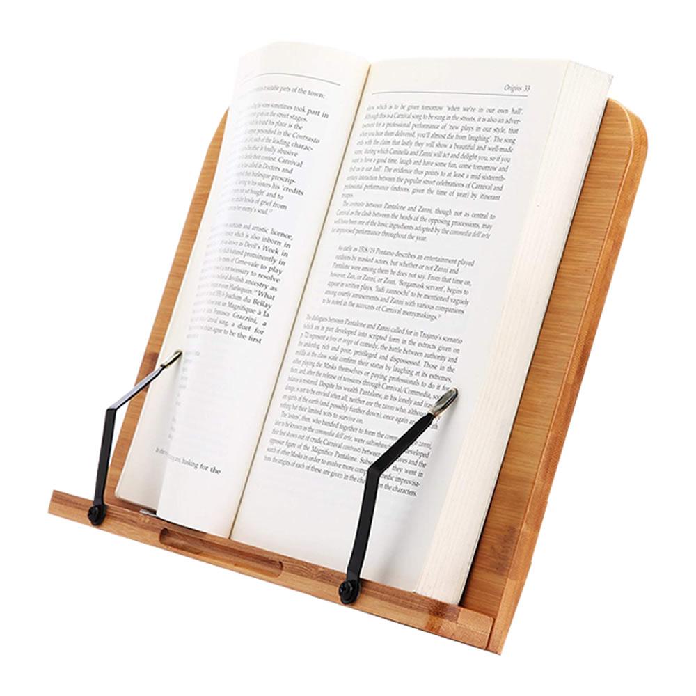 竹の味わいのあるブックスタンド!!! 竹製 ブックスタンド 筆記台 書見台 本立て 6段階調整 バンブー 本 読書 リーディング ブック ホルダー 卓上 ハンズフリー BANBST