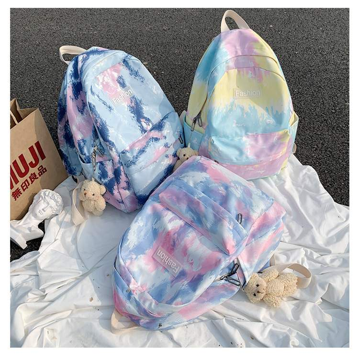 リュック カラフル 学生 背負うカバン 旅行 リュックサック レディース バックパック マーケティング 可愛い デイパック 当店一番人気 グラデーションカラー 大容量 アウトドア バッグ