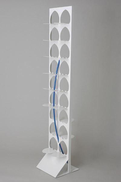 【送料無料※一部地域は除く】 デザインオフィスYOU-油納秀和- メタルシリーズ シューズスタンドYSH-01WH ホワイト 置き式タイプ