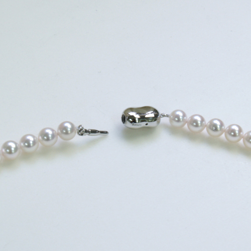 Akoya genuine Pearl Necklace 7 mm 60 cm silver fitting Pearl this Pearl case with 10P05Sep15