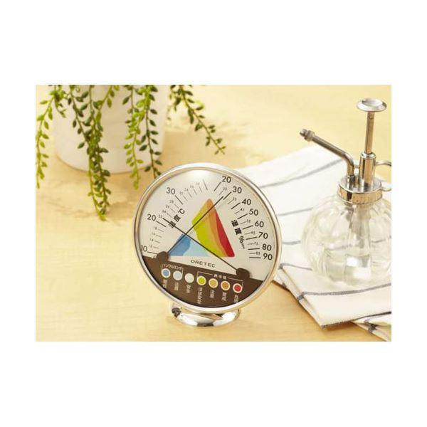 (まとめ)DRETEC 快適な温度 湿度がひと目でわかる 快適温湿度範囲表示 温湿度計 O-311WT【×5セット】topseller
