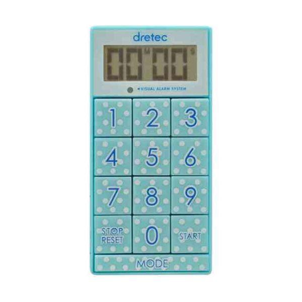 (まとめ)DRETEC キッチンタイマー 光と音で時間をお知らせ デジタルタイマー スリムキューブ T-520BL【×5セット】topseller