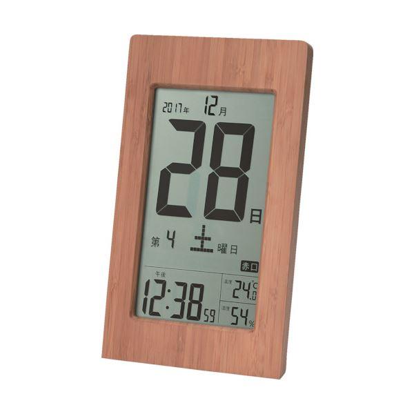 アデッソ 竹の日めくり電波時計T-8656 1個topseller