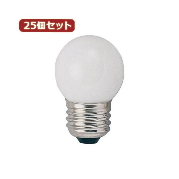 YAZAWA 25個セット ベビーボール球40WホワイトE26 G402640WX25topseller