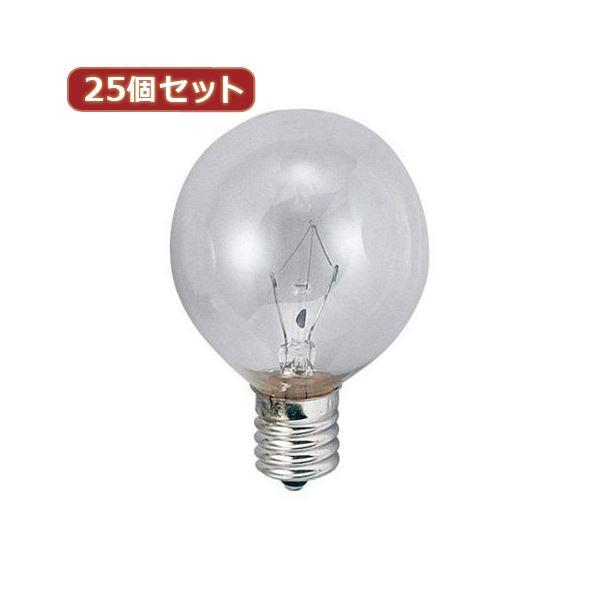 YAZAWA 25個セット ベビーボール球40WクリアE12 G501240CX25topseller
