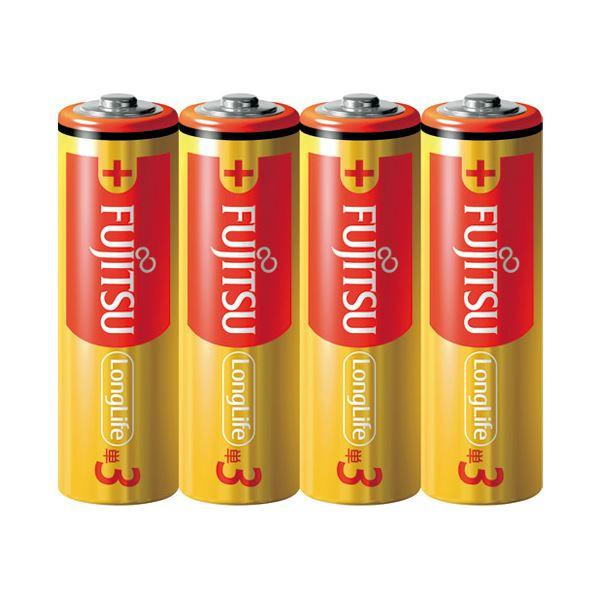 (まとめ) 富士通 アルカリ乾電池LongLife単3形4個 LR6FL(4S)【×30セット】topseller