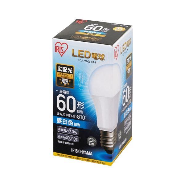 (まとめ) アイリスオーヤマ LED電球60W E26 広配光 昼白色 LDA7N-G-6T5【×10セット】topseller