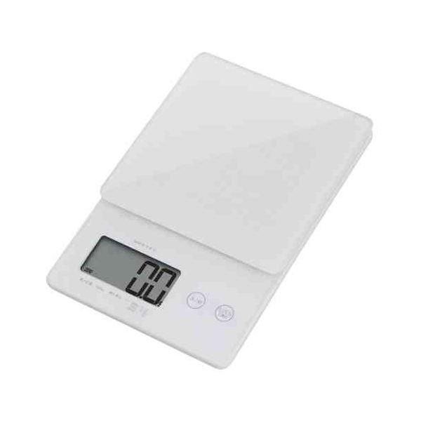 (まとめ)DRETEC キッチンスケール デジタルスケール ストリーム 2kg はかり 0.1g単位ではかれるシンプルな高精度スケール KS-245WT【×2セット】topseller