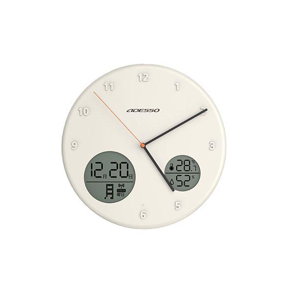 アナデジ電波ウォールクロック ホワイト AL-702W【代引不可】topseller