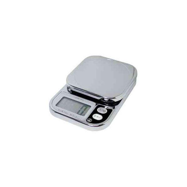 (まとめ)DRETEC キッチンスケール コンパクトスケール2kg はかり クロムメッキ数字が見やすい超大画面 KS-209CR【×2セット】topseller