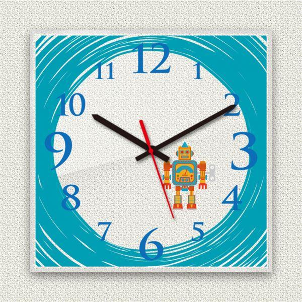 壁掛け時計/デザインクロック 【ロボット】 30cm角 アクリル素材 『MYCLO』 〔インテリア雑貨 贈り物 什器〕topseller