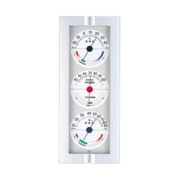 (まとめ)EMPEX 温度・湿度計 快適モニター(温度・湿度・不快指数計) 掛用 CM-635 ホワイト【×2セット】topseller
