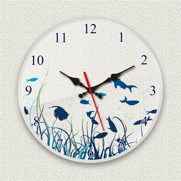 壁掛け時計/デザインクロック 【シーフロア】 直径30cm アクリル素材 『MYCLO』 〔インテリア雑貨 贈り物 什器〕topseller