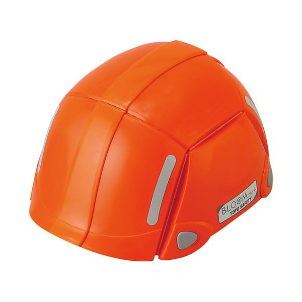 (まとめ) トーヨーセフティー 折りたたみヘルメットNo.100 オレンジ【×3セット】topseller