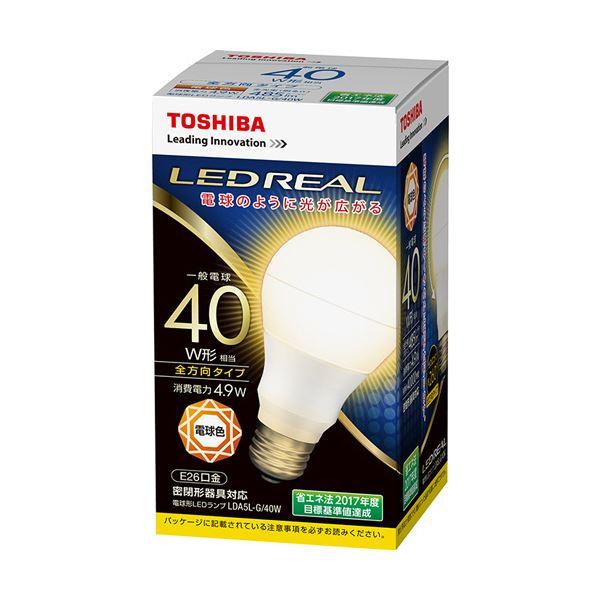 (まとめ)東芝ライテック LED電球 一般電球形40W形相当 4.9W E26 電球色 LDA5L-G/40W 1個【×5セット】topseller
