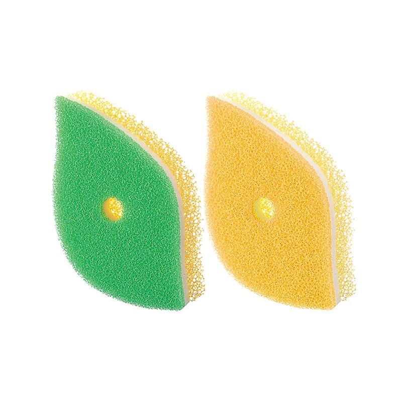 輸入 マーナ公式 MARNA マーナ 泡立ちGOOD 手になじむ葉っぱ型のキッチンスポンジ ポコ ぽこ POCO キッチンスポンジ K614 はっぱ 葉っぱ型スポンジ キッチン セール品 スポンジ