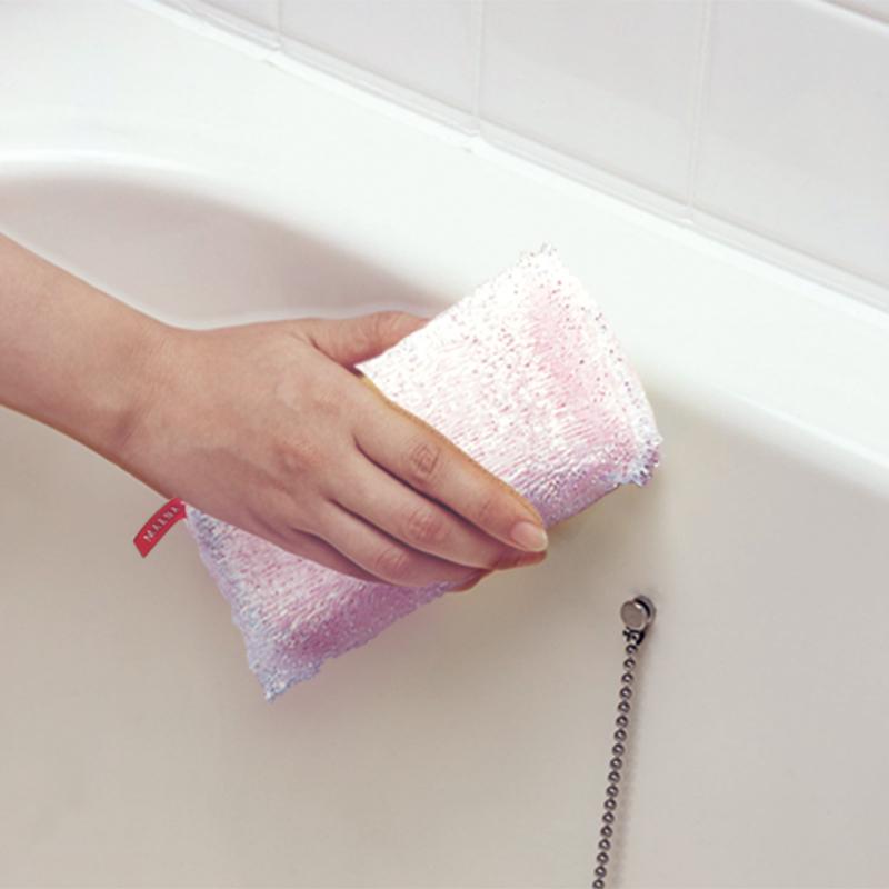 マーナ公式 秀逸 MARNA マーナ キラキラ部分が水垢 湯垢をスッキリ落とす スポンジ バス用品 bath 便利グッズ キラキラスポンジバスタブ用 大決算セール W032 雑貨
