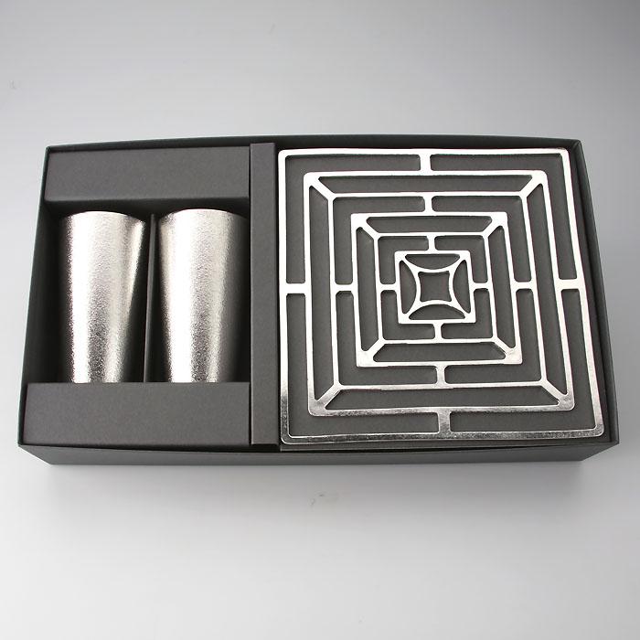 能作 メーカー直営 感謝ギフト(KAGO-スクエア-M・ビアカップ2ヶセット)公式オンラインショップ・直営店限定