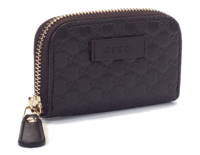 10ffcc6f928 Gucci coin purse GUCCI multicast guccissima large zip around wallet zippy coin  wallet GG pattern type press leather dark brown 324801 2038 BNJ0G genuine  ...