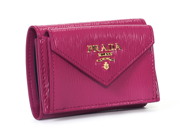 c7d5869c72 PRADA mini-wallet compact wallet Lady's outlet regular article of three  Prada fold wallet 1MH021 MOVE IBISCO/ イビスコローズ origin is new