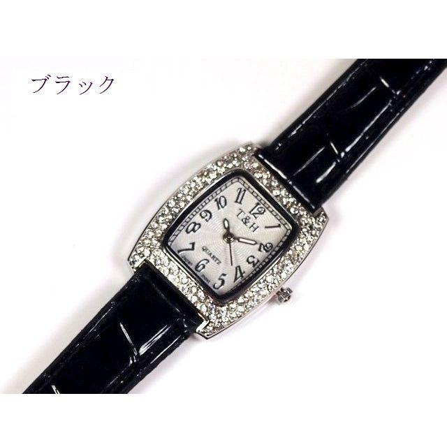 腕時計 レディース ウォッチ トノータイプ クロコ調PUレザーベルト クオーツ
