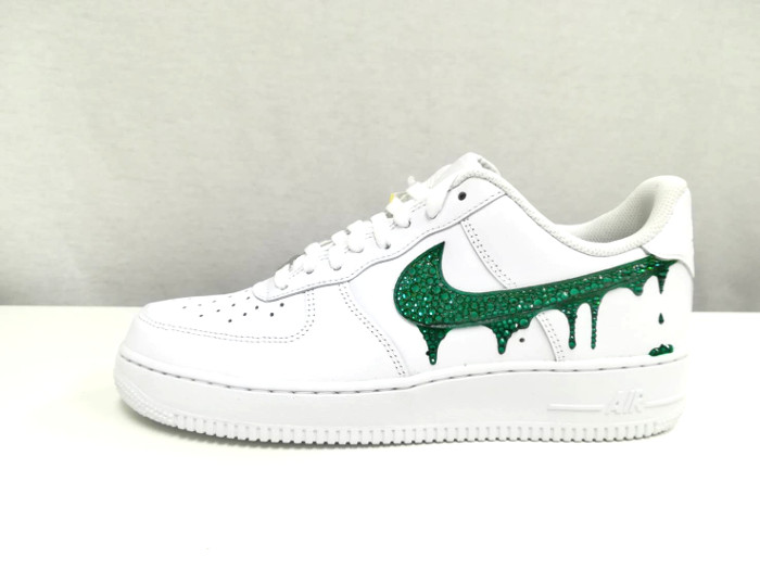 cheap for discount f9c38 d3135 STuREET スチュリート AF1 LOW DROP Air Force One shoes sneakers low-frequency cut  Swarovski rare white green green