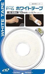 【1ケース分】【144個セット】 ドーム ホワイトテープ(2本入り) 13mm×144個セット 【正規品】
